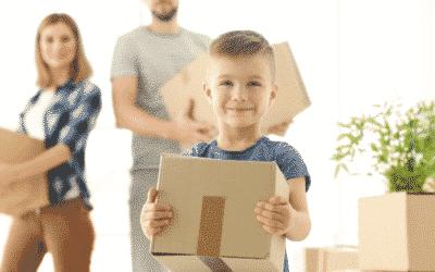 Tirez le meilleur du déménagement avec les enfants